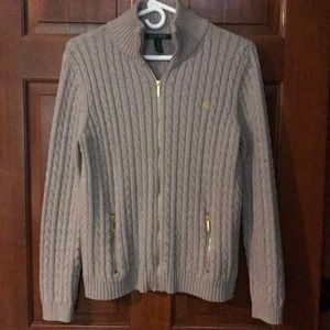 Ralph Lauren cotton sweater dual zip
